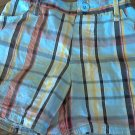 Blac Label baby boy's blue, red, yellow plaid short 12 mos