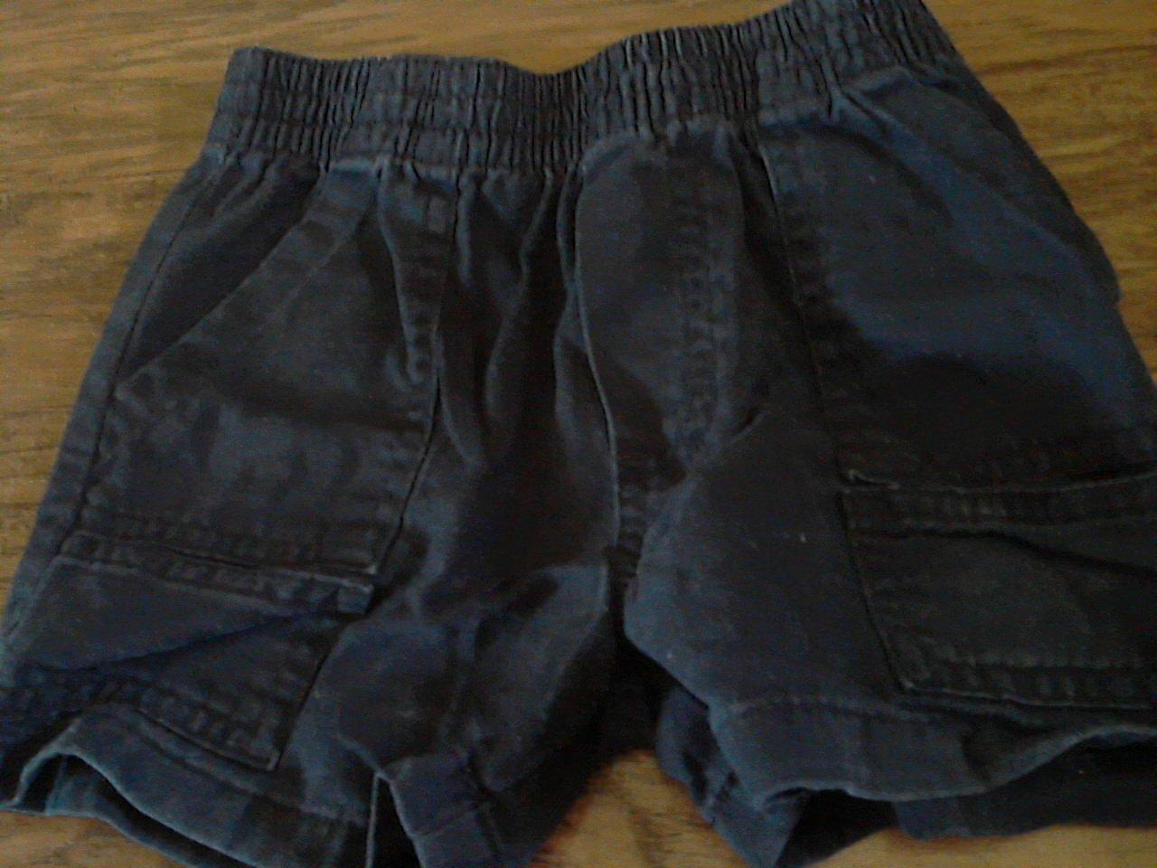 Faded Glory baby boy's navy elastic waist short 12 mos
