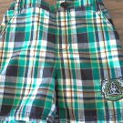 Rocawear baby boy's green and black plaid short 12 mos