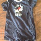 Carter's baby boy's navy short sleeve bodysuit 9 mos