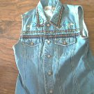 Bill Blass Jeans womans denim jean vest size M