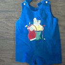 Austin & Ashley baby boy's blue overall short 9 mos