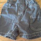 Baby boy's navy elastic waist short 6-9 mos