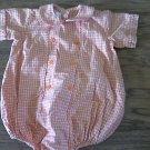 Baby boy's orange plaids short sleeve romper 12 mos