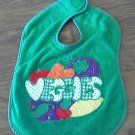 Baby boy or girl green veggies bib one size
