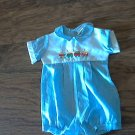 Alexis baby boy's blue short sleeve bodysuit 6 mos