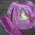Disney Princess toddler girl's pink sleepwear pant set 3T
