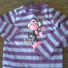 Okie Dokie girl's purple stripe shirt 4T