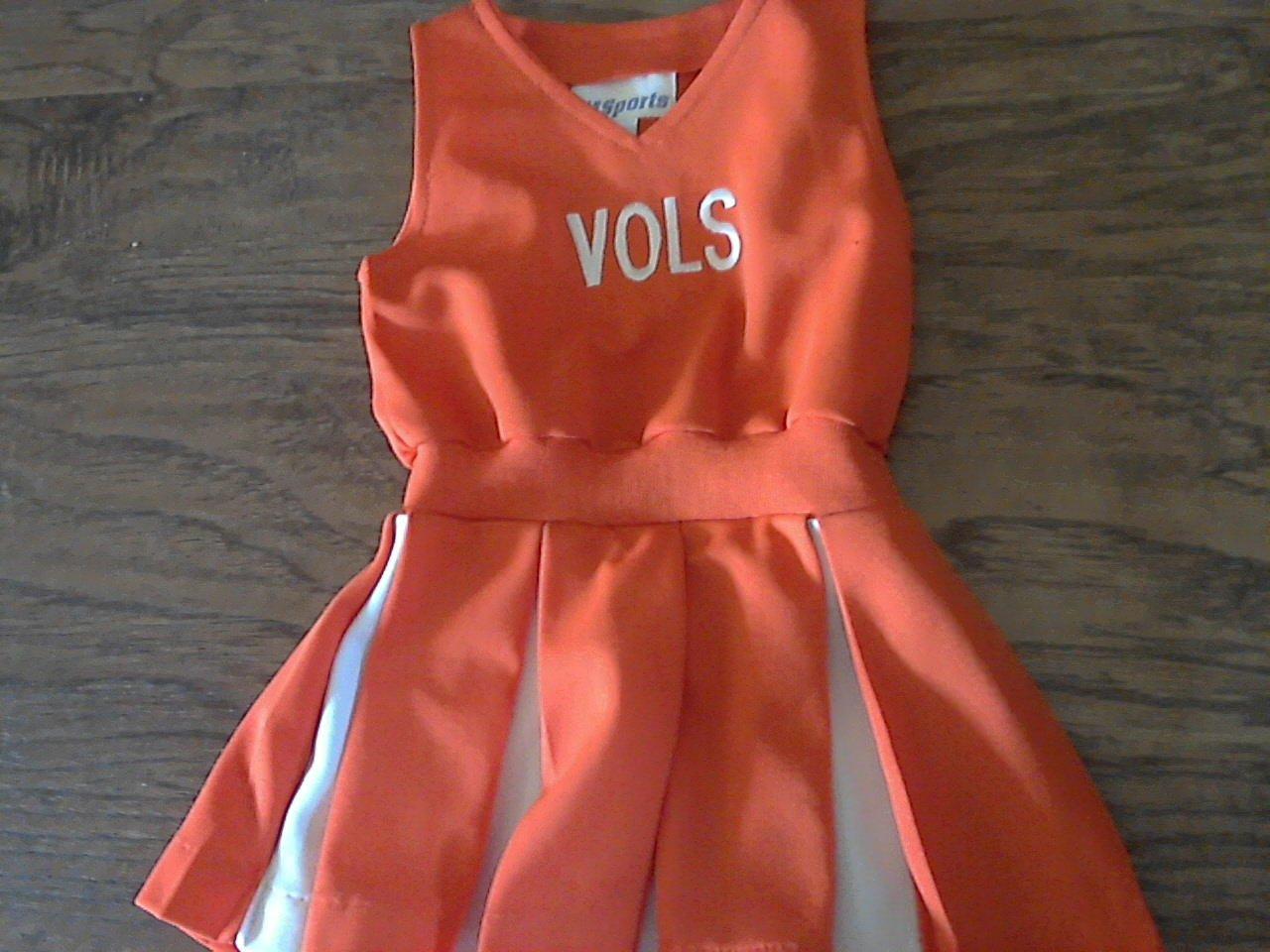 MSports girl's orange VOLS dress 4T