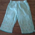 Toddler girl's blue and white plaids elastic waist pant 3T