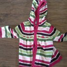 Gymboree toddler girl's lime,purple,pink,hot pink stripped sweater jacket hoodie 4T