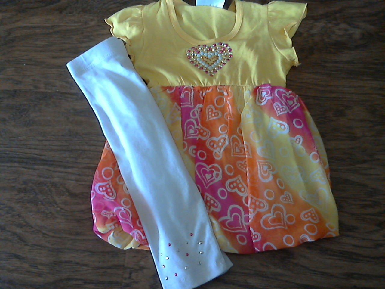 Rmla toddler girl's yellow short sleeve shirt pant set 4T