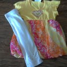 Rmla toddler girl's yellow short sleeve shirt pant set 4T