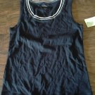 White Stag woman's navy scallop trim tank S/Ch (4-6)