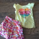 Healthtex toddler girl's yellow beach top and skirt set 4T