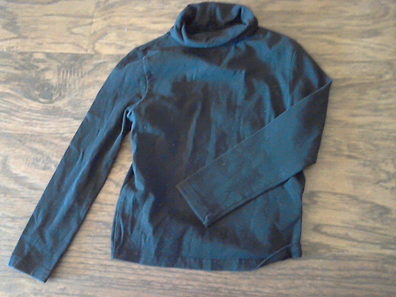 George girl's black turtleneck long sleeve shirt s/ch (6/6x