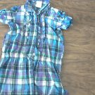 Healthtex girl's purple plaids short sleeve shirt 5T