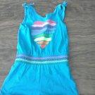 Healthtex girl's blue stretch waist sleeveless romper 4T