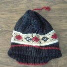Newborn baby boy's black hat