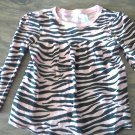 4T girl's black and pink stripped long sleeve shirt