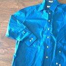Joseph & Feiss man's blue long sleeve causal shirt size 32/33