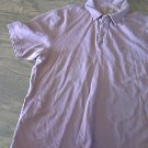 Izod Jeans man's purple short sleeve shirt size Large