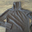 Junior girl's  chocolate long sleeve turtleneck sweater Large