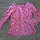 Faded Glory girl's hot pink long sleeve shirt size M (7-8)