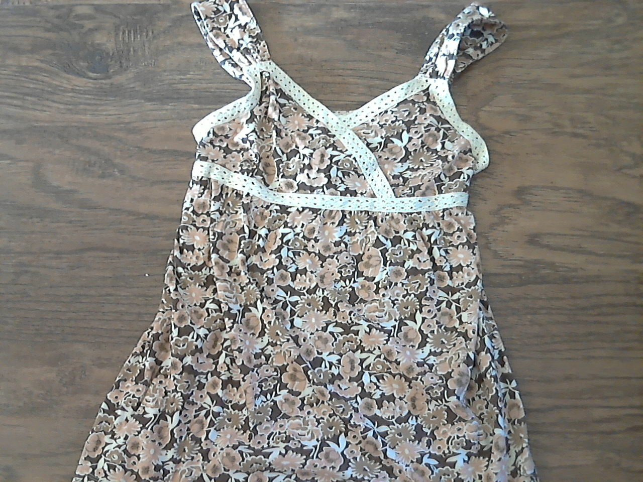 Cato junior girl's brown floral sleeveless top size L (12-14)