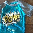 Garanimals baby boy's blue short sleeve shirt size 18 mos