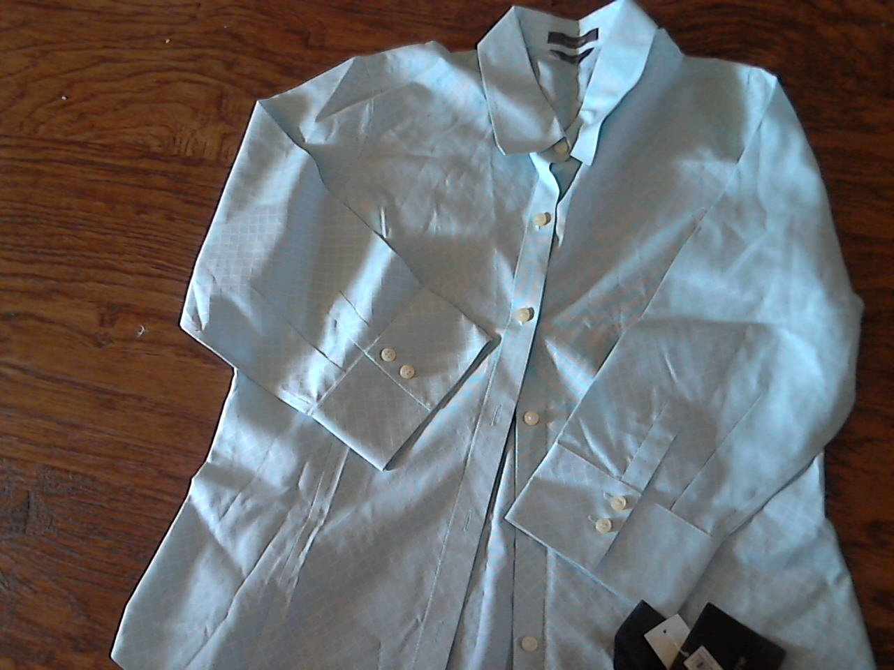 New Liz Claiborne man's light blue long sleeve shirt size 12