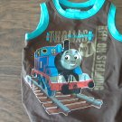 Thomas & Friends baby boy's brown sleeveless shirt size 12 mos