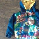Disney toddler boys navy hooded jacket size 4T