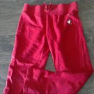 Faded Glory girl's red bandwaist pant size m (7-8)