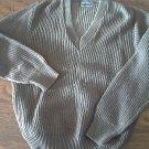Seth Roberts man's gray v-neck sweater size medium
