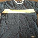 Old College Inn man's navy short sleeve shirt size Large