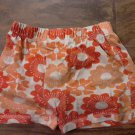 Faded Glory girl's coral floral short size 7