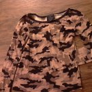 Faded Glory girl's brown camo long sleeve shirt size 10-12
