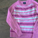 Faded Glory girl's pink striped long sleeve sweater size M (7-8)