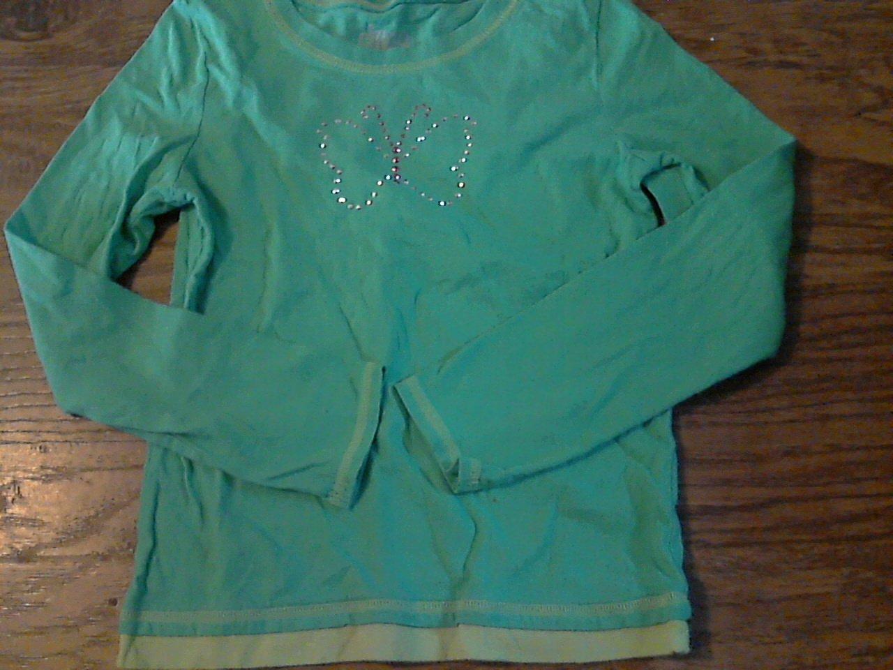 Circo girl's green long sleeve shirt size M (7-8)