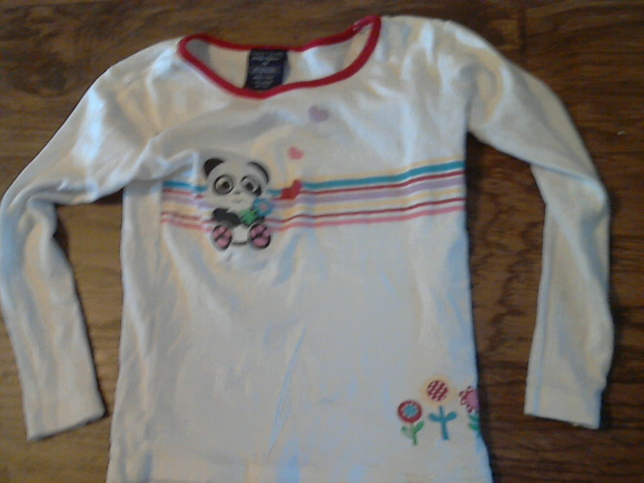 Faded Glory girl's white long sleeve shirt size 7-8