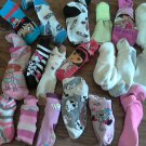 Lot of 19 Mixed girl's socks size 12 mos-4T