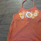 Faded Glory girl's orange strap tank top size 7