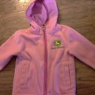 John Deere girl's pink hooded jacket size 4T