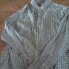 Timberland man's blue tartan long sleeve shirt size XL