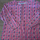 Bonjour woman's red long sleeve shirt size Large