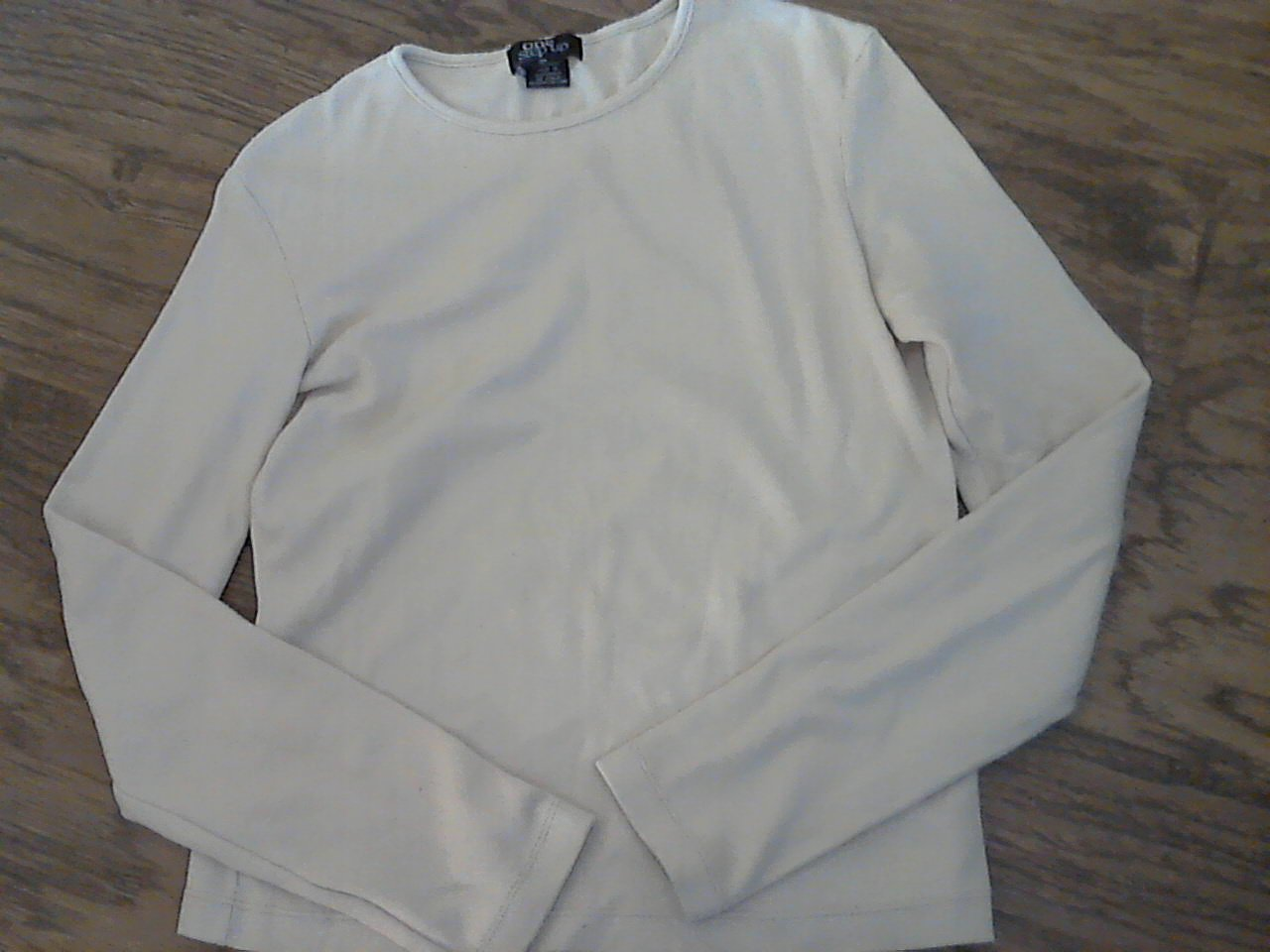 One Step Up girl's tan long sleeve shirt size Large
