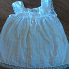 Girl's white laced sleeveless top size Large