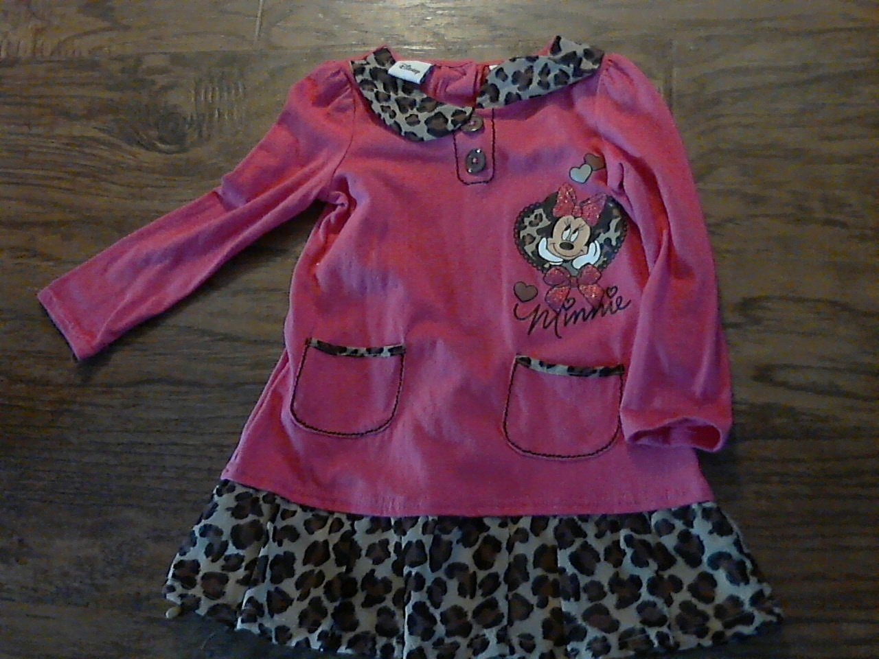 Disney girl's hot pink Minnie shirt size 4T