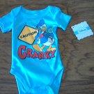 New Disney baby boy or girl blue short sleeve bodysuit 0-3 mos